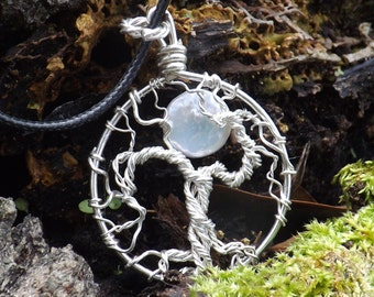 Winter's Full Moon and Sterling Silver Tree