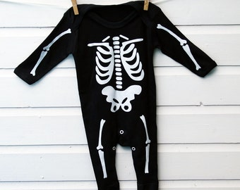 Glow In The Dark Skeleton Babygrow