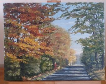 Walking Through the Forest - Acrylic on cardboard canvas