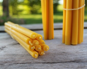 Beeswax candles, pretty gift, ONE complete set (5 candles)