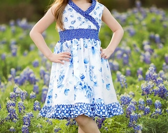 Clover's Criss Cross Top & Dress PDF Pattern Sizes 6/12m to 8 Girls