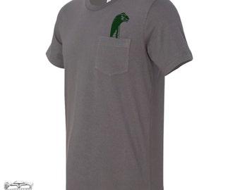 Mens LOCHNESS Pocket Tee T Shirt S M L XL XXL custom