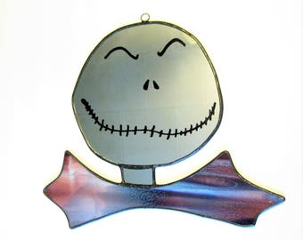 SALE- I am the Pumpkin King - Jack Skellington -Nightmare Before Christmas- Stained Glass and Hand Painted Mirror