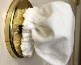 Doorknob Cover 100% white cotton
