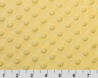 Changing Pad Cover | Yellow Minky Dot