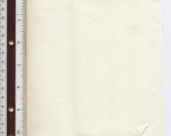 "AIDA 18-Count IVORY 6-3/8"" X 13-1/2"" SCRAP Even-Weave Counted Cross-Stitch Fabric"