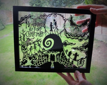 The Nightmare Before Christmas Handmade Paper Cutting Design