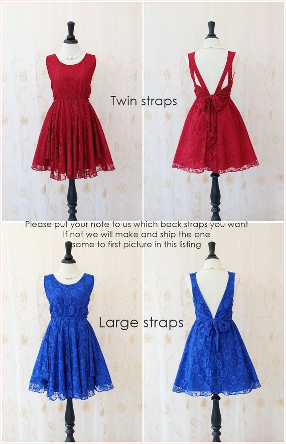 Blaues Kleid blaue Spitze Kleid blau Partei Kleid blau