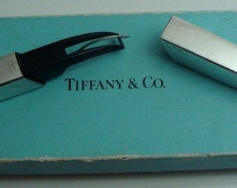Vintage TIFFANY & CO 925 Sterling Silver  Paper Cutter Letter Opener w/box