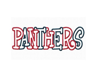 Instant Download Panthers Multi Colored Embroidery Machine Applique Design 684
