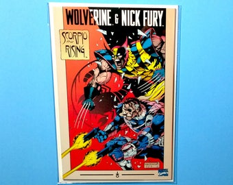Wolverine & Nick Fury; Scorpio Rising (Grade NM) High Grade Vintage Marvel Comic Book, B3
