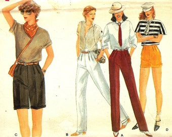 Vintage 1970s Vogue Pattern 7324 - Misses Pants & Shorts - Size 8 - UNCUT