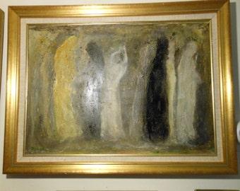 SPIRIT DANCE (Framed Oil Painting)