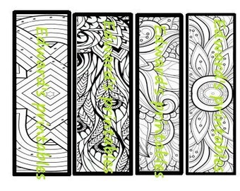 PRINTABLE BOOKMARKS, Coloring Page, Instant Download paper bookmarks, you download,you print