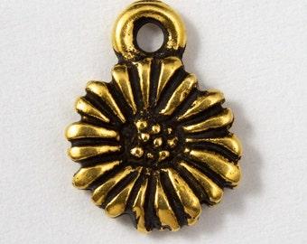 9mm Antique Gold TierraCast Daisy Charm #CKB030