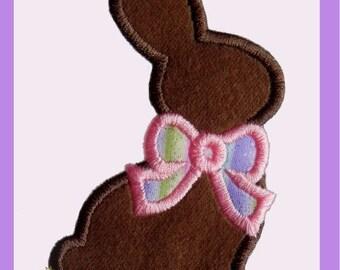 Chocolate bunny applique  design