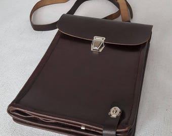 Soviet officer's bag Shoulder Bag Tablet bag Planchet bag Messenger Bag Soviet Officer Military Bag Vintage Leather Map Bag Made in USSR