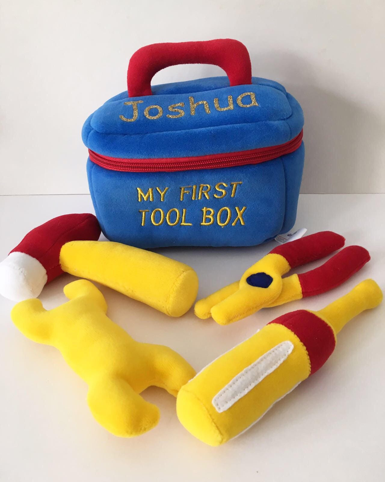 My first tool box soft toy baby toy personalised soft toy box