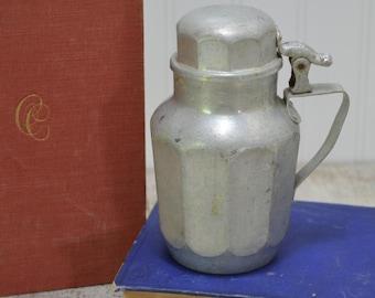 Pure Aluminum Syrup Decanter Pitcher - farmhouse decor - Vintage Royal