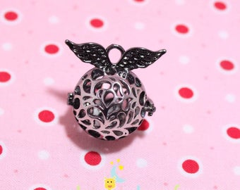 Black metal cage and silver form Angel for Bola Harmonyball 27mm