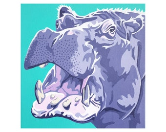 """Limited Edition Print - """"Hippo"""""""