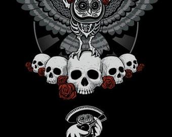 Dia De Los Muertos Owl