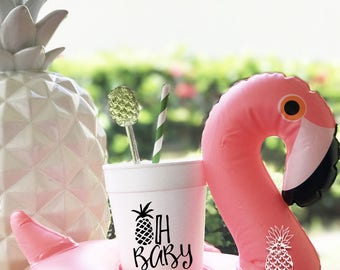 Pineapple Party Styro-foam Cups | social graces and Co