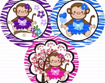 Cute Lil Monkeys Bottle Cap Images 4x6 Bottlecap Collage Scrapbooking Jewelry Hairbow Center