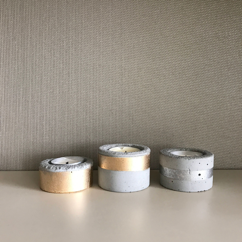 Set 3 Kerzenhalter Kerze Beton Kerzenhalter Kerzenständer