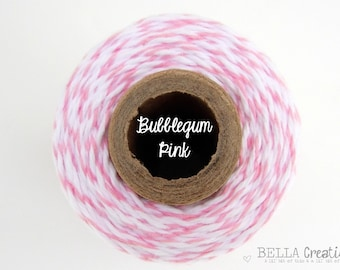 PINK Twine - Bubble Gum Pink Bakers Twine by Timeless Twine