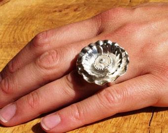 Poppy ring sterling silver handmade