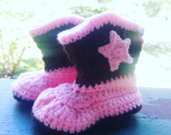 Crochet cowgirl boots