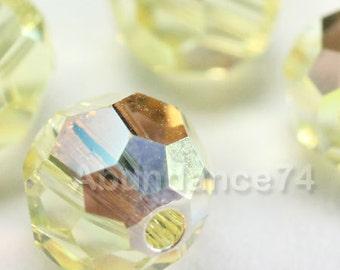 6 pcs Swarovski Elements - Swarovski Crystal Beads 5000 10mm Round Ball Beads - Jonquil AB