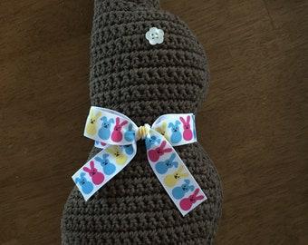 Crocheted Chocolate Bunny/ Chocolate Easter Bunny/ Chocolate Stuffed Bunny