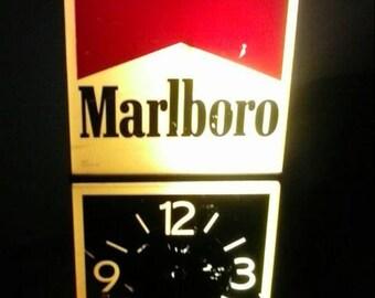 Antique Marlboro Clock Sign Light