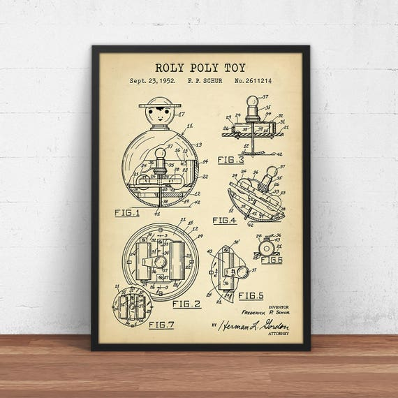 Roly poly toy patent print digital download toy blueprint malvernweather Images