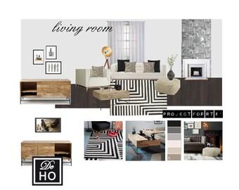 Interior Design Service online, eDesign. Interior architect - design service - engagement gift idea - virtual decorator