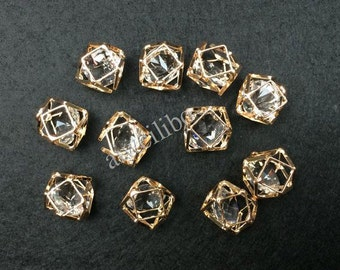10 pcs Gold-Alloy Charm Pendant DIY Necklace/ Jewelry Making