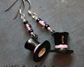 Mad Hatter Steampunk Earrings