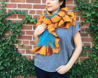 Ruffle Felted Scarves
