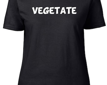 Vegetate. One Word. Ladies semi-fitted t-shirt.