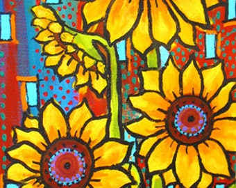 Sunflowers, Yellow, Southwest, Print Shelagh Duffett