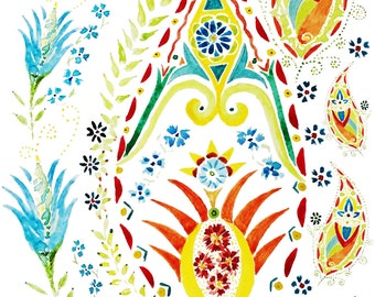 Pretty and Dainty Paisley Cafe Valances, Window treatments for kitchen, living room, bathroom, bedroom valance or curtains