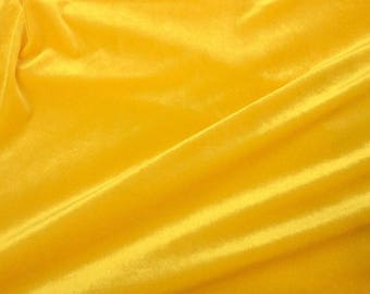 Stretch Velvet Yellow 60 Inch By the Yard