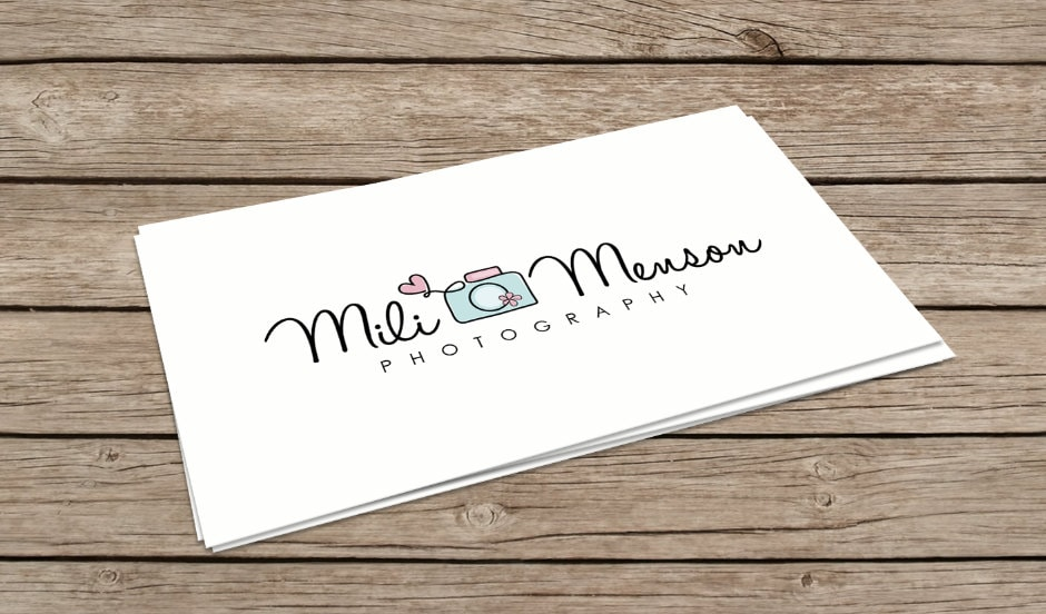 Photography Logo Design Camera Logo Heart Logo Baby Logo Boutique ...