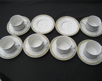 American Atelier Marselle-6 Cups-8 Saucers-Fine condition disc. 1990's