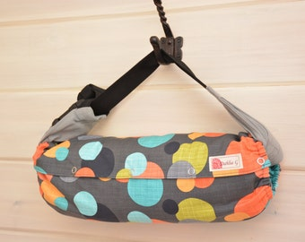 Baby Carrier Cover Reversible Flock Purple Dots Or Green