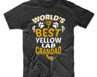 World's Best Yellow Lab Grandad Graphic T-Shirt