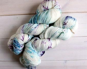 Geeky yarn - Pixelated Unicorn hand dyed sock yarn - speckled yarn - indie dyed yarn - speckled sock yarn - unicorn yarn - rainbow yarn