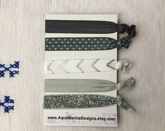 Elastic Hair Ties - Silver Collection